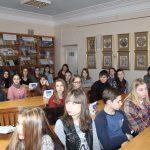 Студенти Тернопільського Галицького коледжу ім. В'ячеслава Чорновола під час заходу