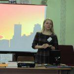 Виступає Ірина Сематишин — завідувач відділу денного перебування Тернопільського міського територіального центру обслуговування населення