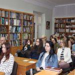 Під час заходу (студенти Тернопільського кооперативного торговельно-економічного коледжу та факультету мистецтв ТНПУ ім. В. Гнатюка)