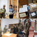 Під час передачі книжок військовослужбовцям 44-ї окремої артилерійської бригади м. Тернополя